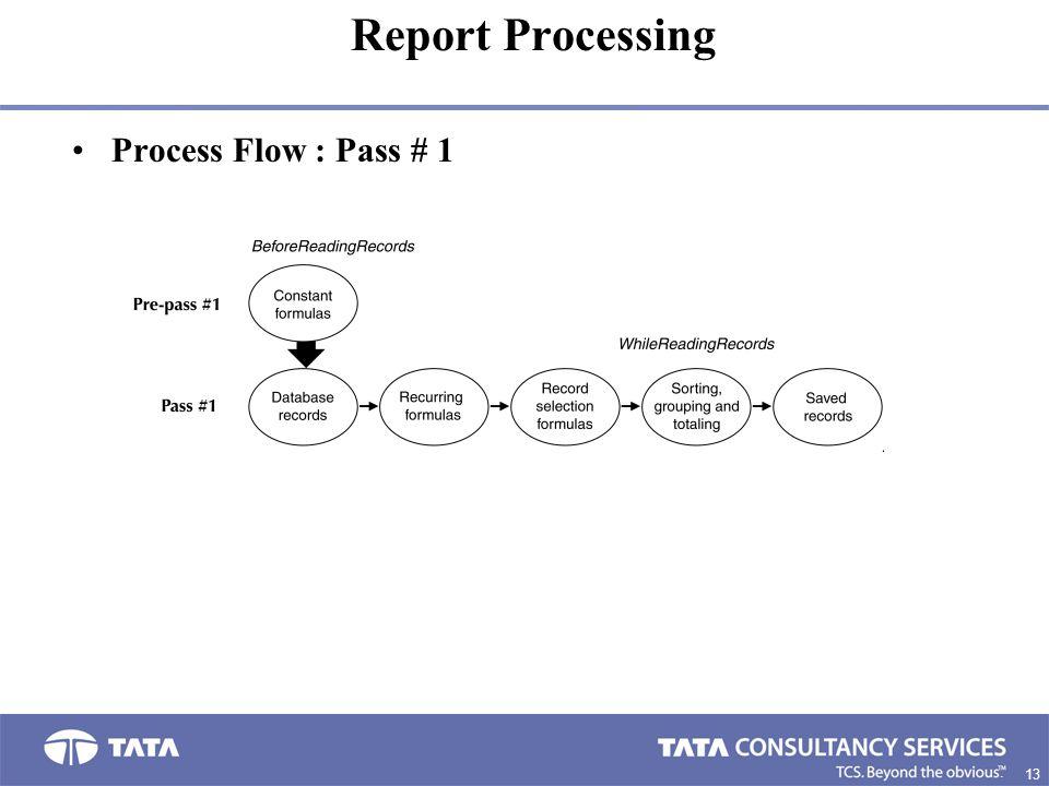 Report Processing Process Flow : Pass # 1