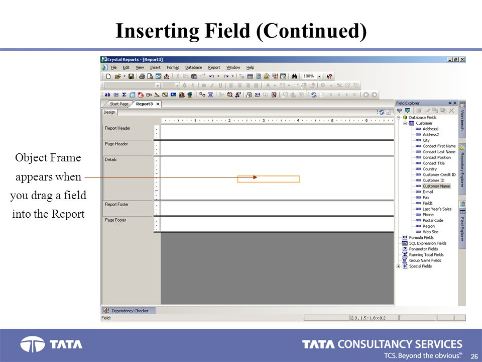 Inserting Field (Continued)