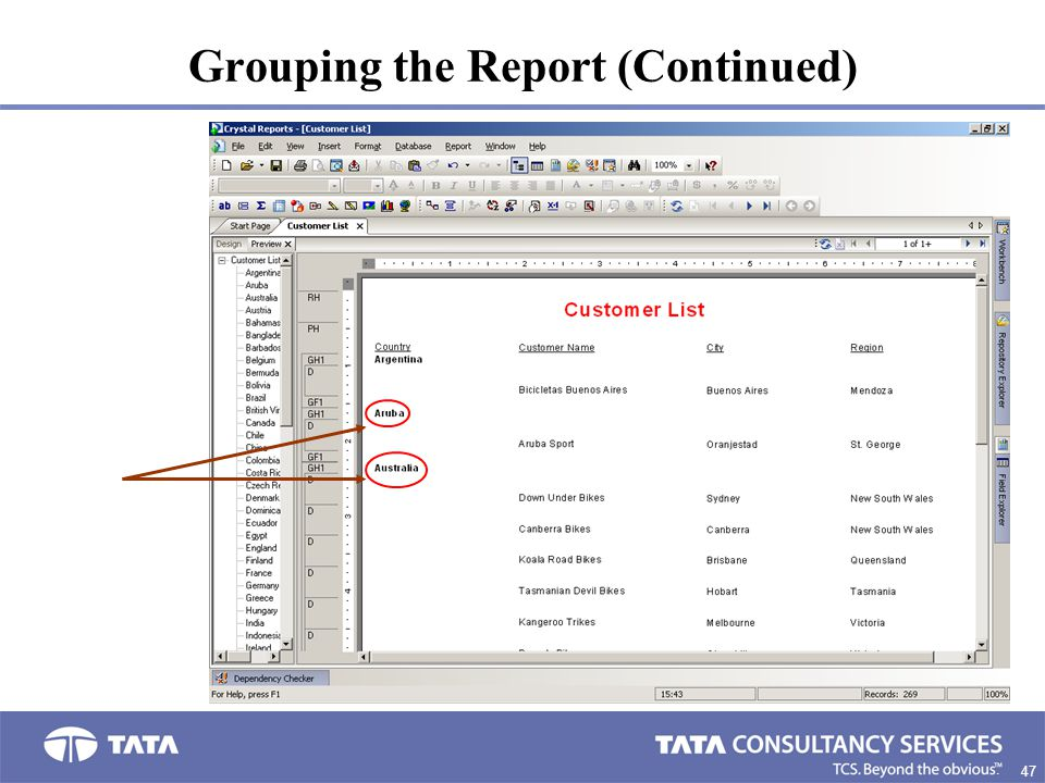 Grouping the Report (Continued)