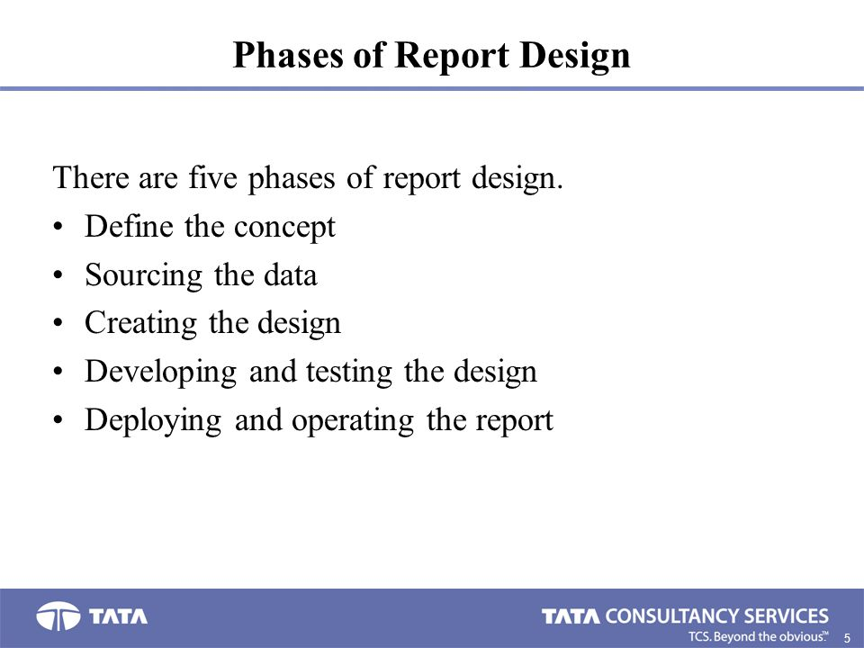 Phases of Report Design