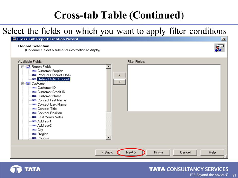 Cross-tab Table (Continued)
