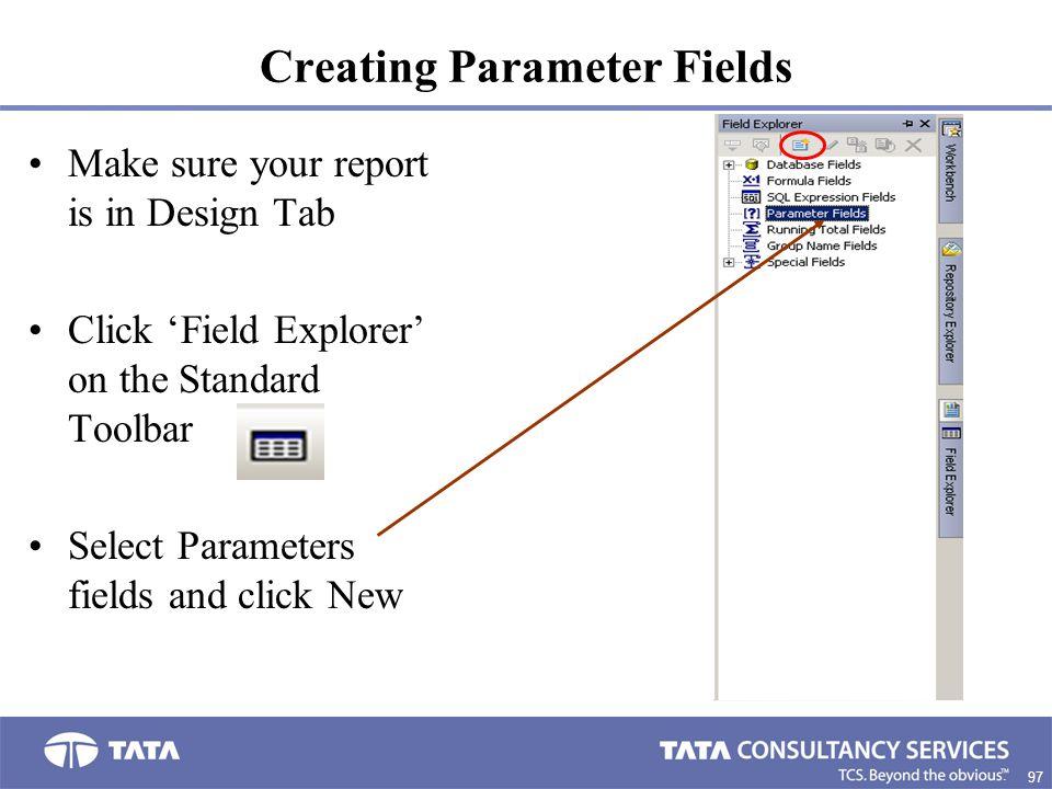 Creating Parameter Fields