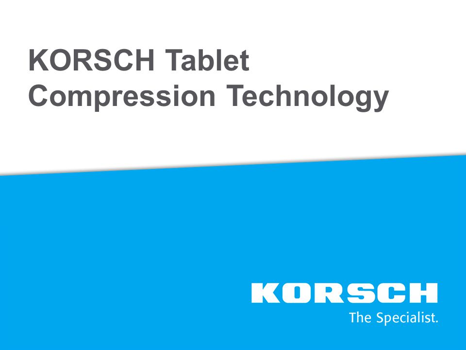 KORSCH Tablet Compression Technology