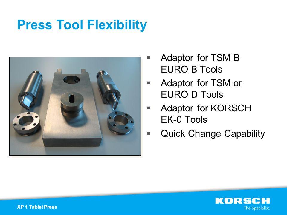Press Tool Flexibility