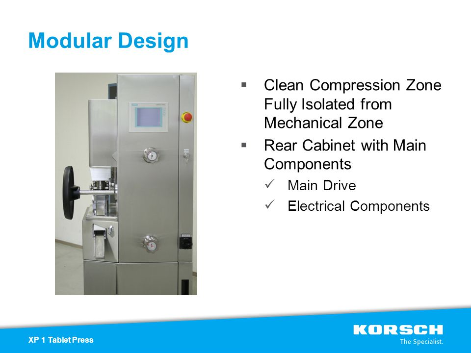 Modular Design Clean Compression Zone Fully Isolated from Mechanical Zone. Rear Cabinet with Main Components.