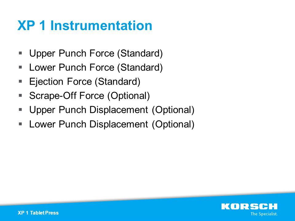 XP 1 Instrumentation Upper Punch Force (Standard)