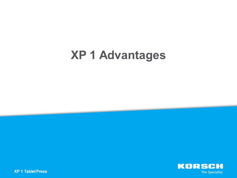 XP 1 Advantages XP 1 Tablet Press
