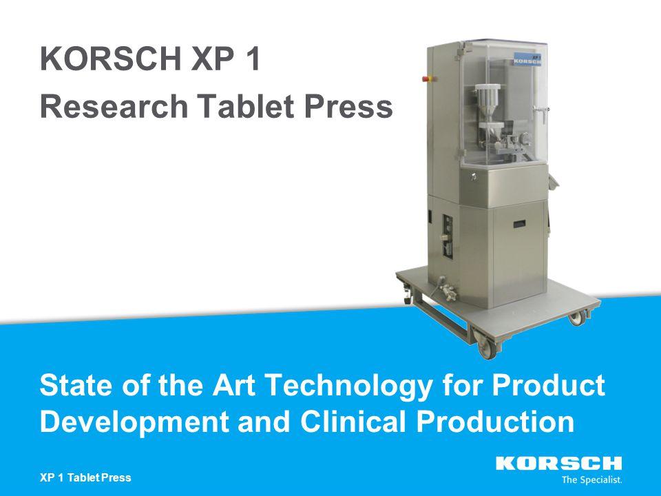 KORSCH XP 1 Research Tablet Press
