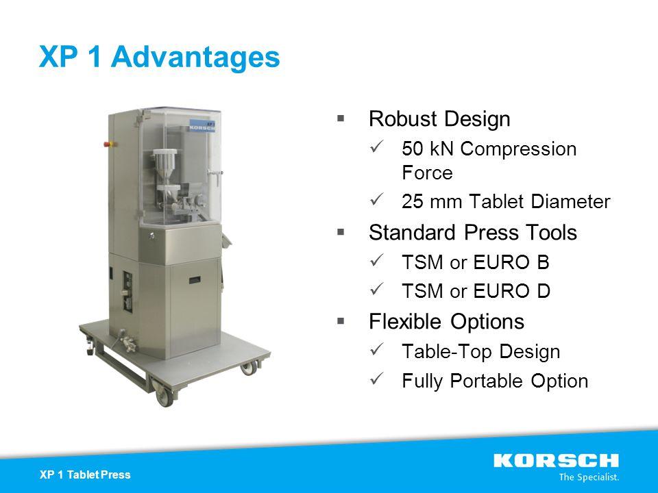 XP 1 Advantages Robust Design Standard Press Tools Flexible Options