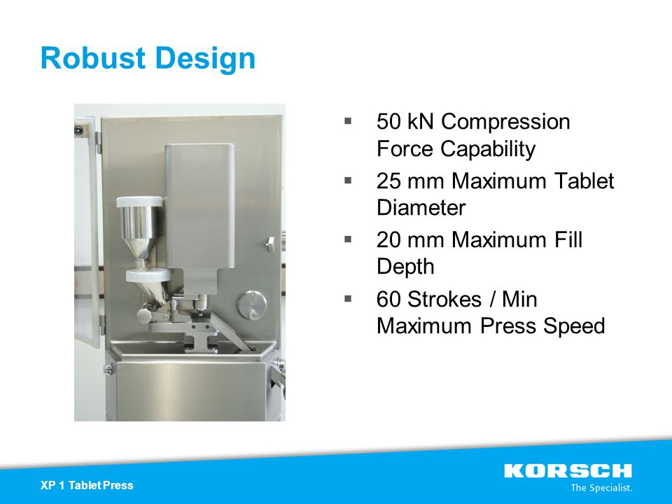 Robust Design 50 kN Compression Force Capability