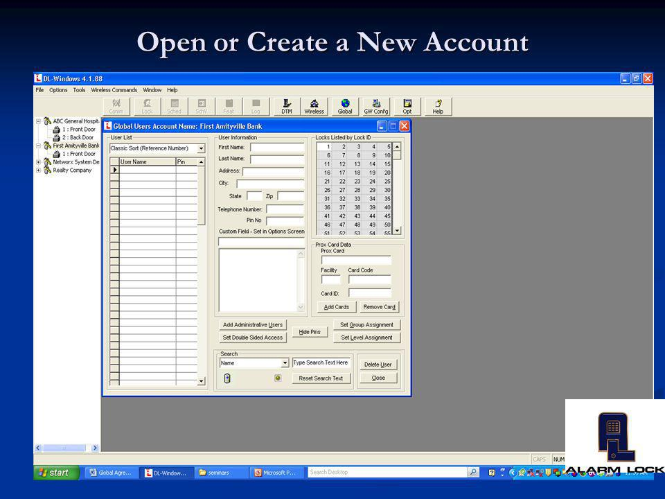 Open or Create a New Account