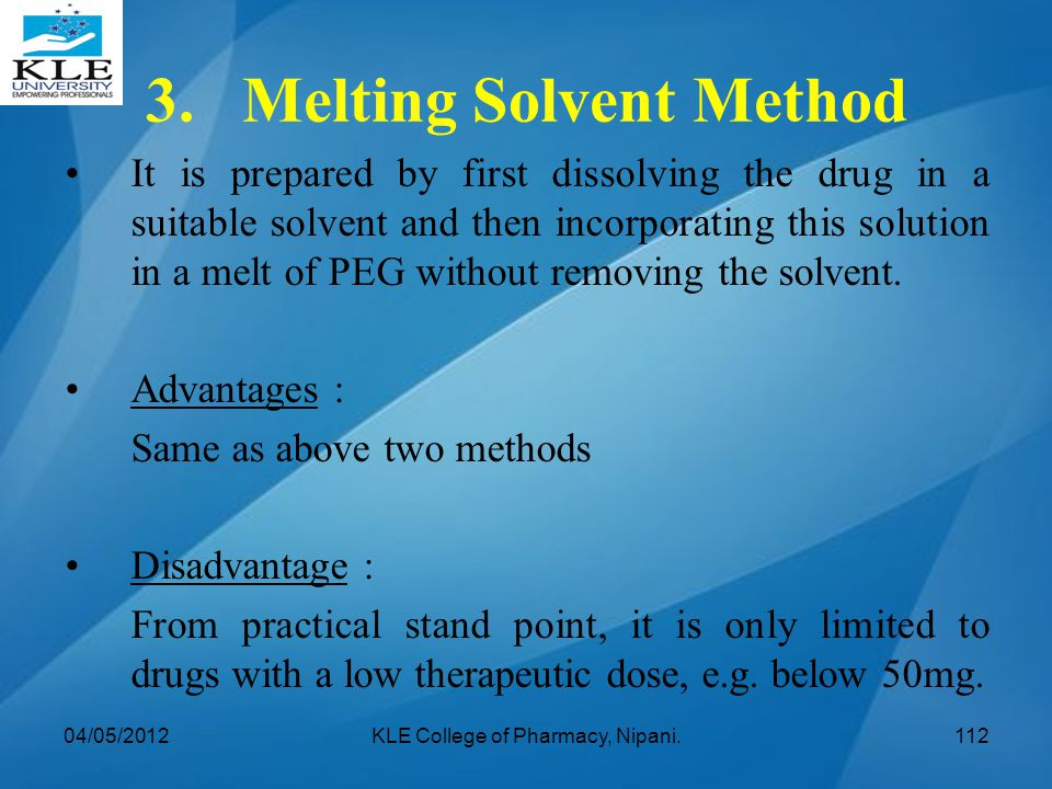 3. Melting Solvent Method