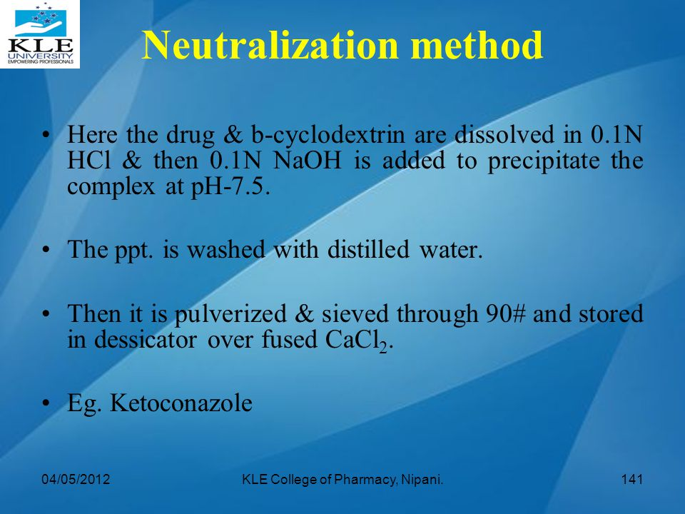 Neutralization method
