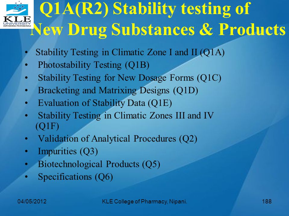Q1A(R2) Stability testing of New Drug Substances & Products