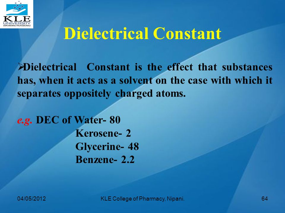 Dielectrical Constant