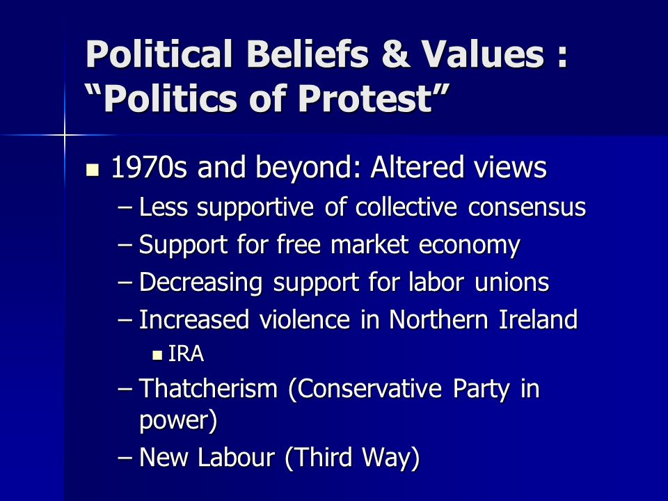 Political Beliefs & Values : Politics of Protest