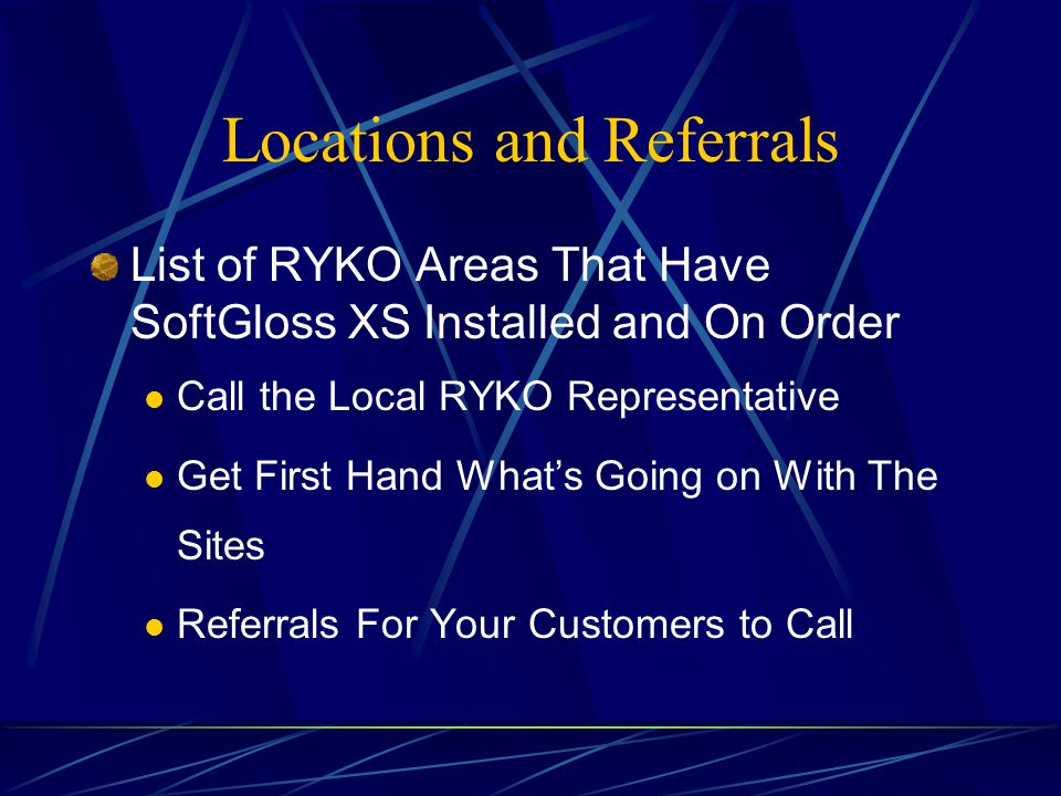 Locations and Referrals