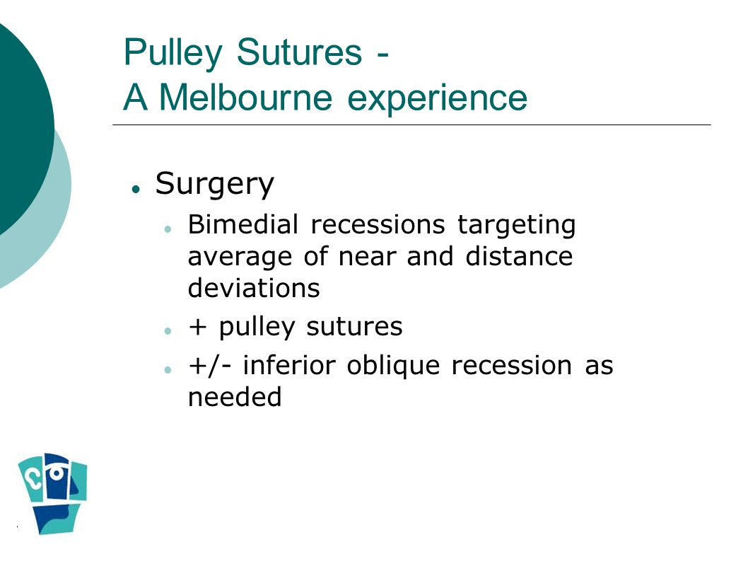 Pulley Sutures - A Melbourne experience