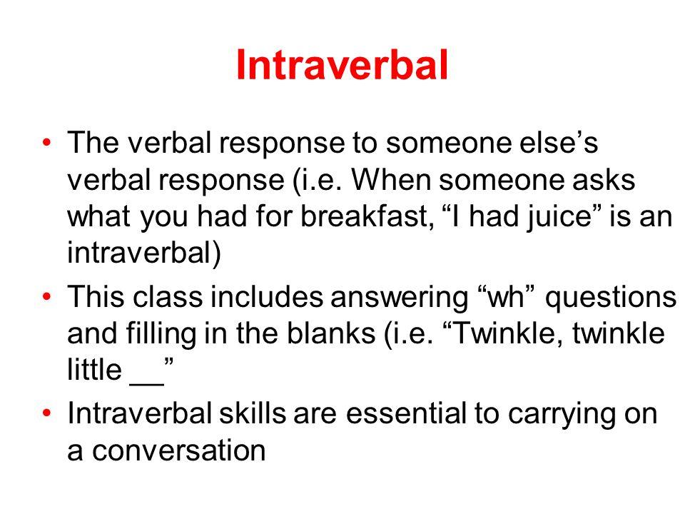 Intraverbal