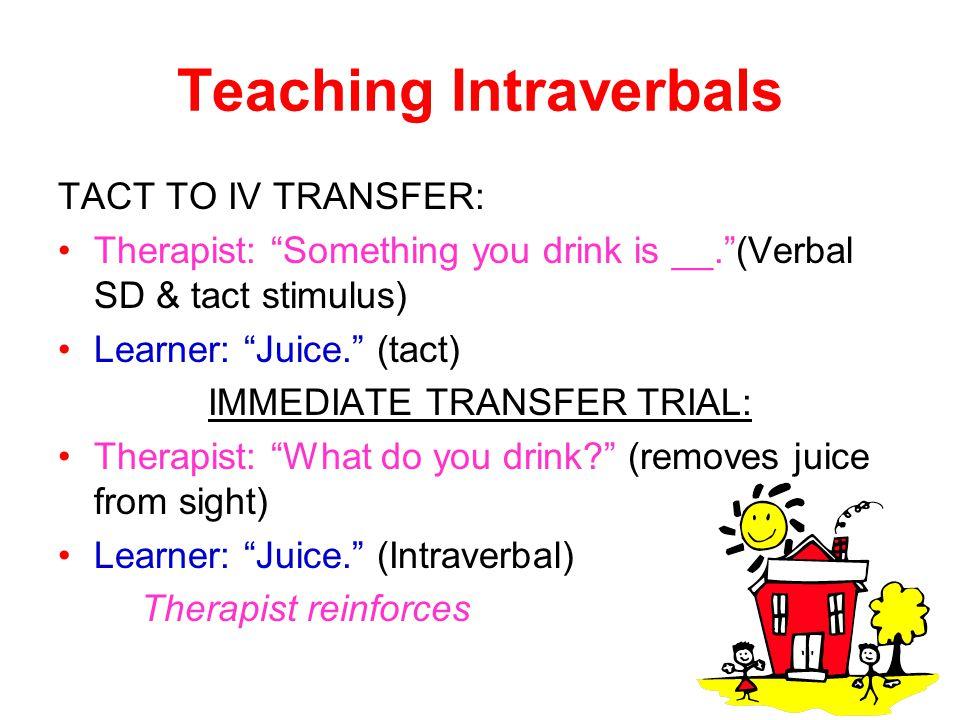 Teaching Intraverbals