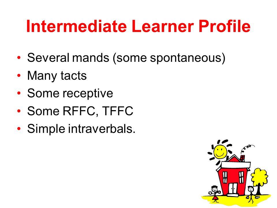 Intermediate Learner Profile