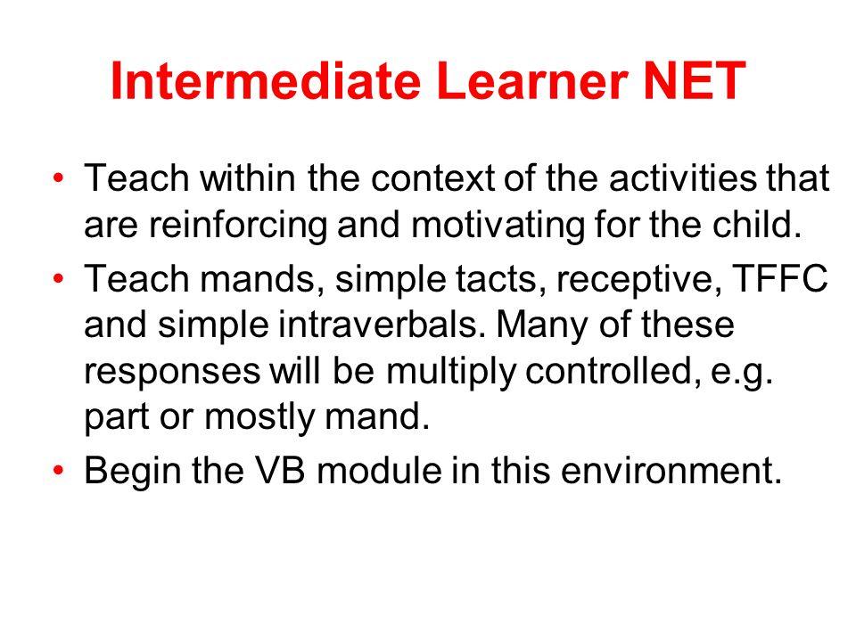 Intermediate Learner NET