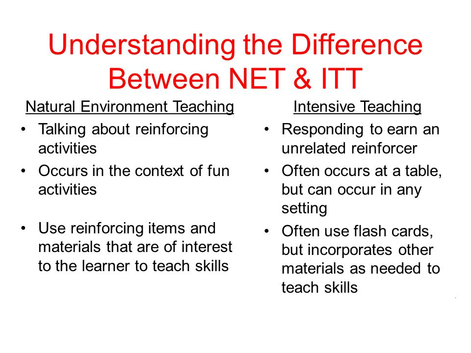 Understanding the Difference Between NET & ITT