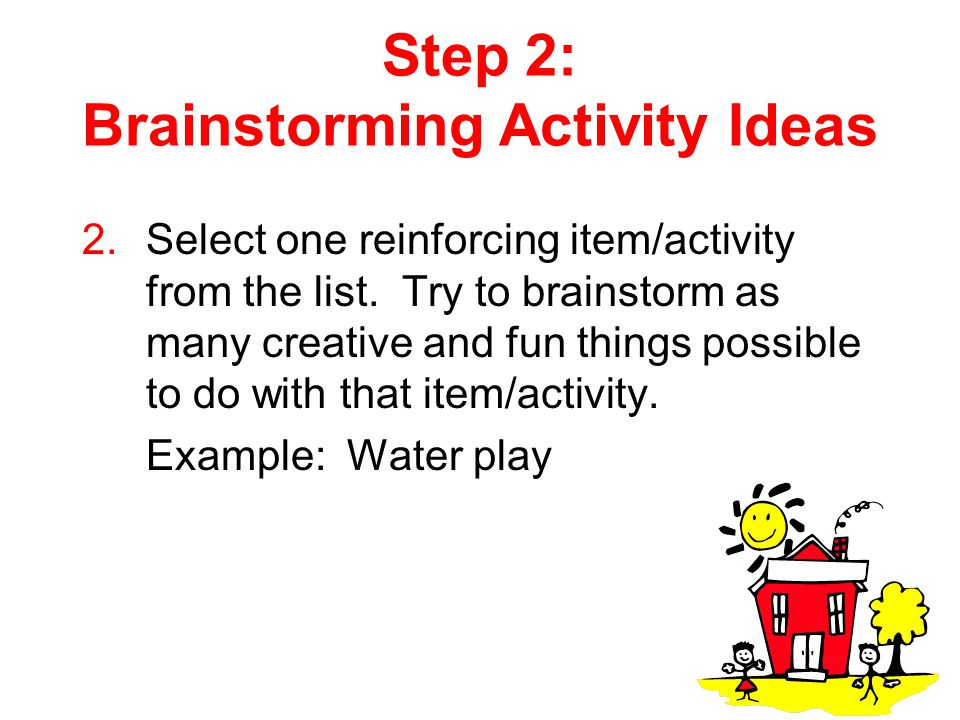 Step 2: Brainstorming Activity Ideas