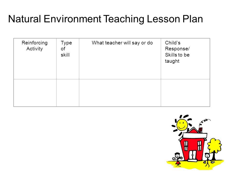 Natural Environment Teaching Lesson Plan