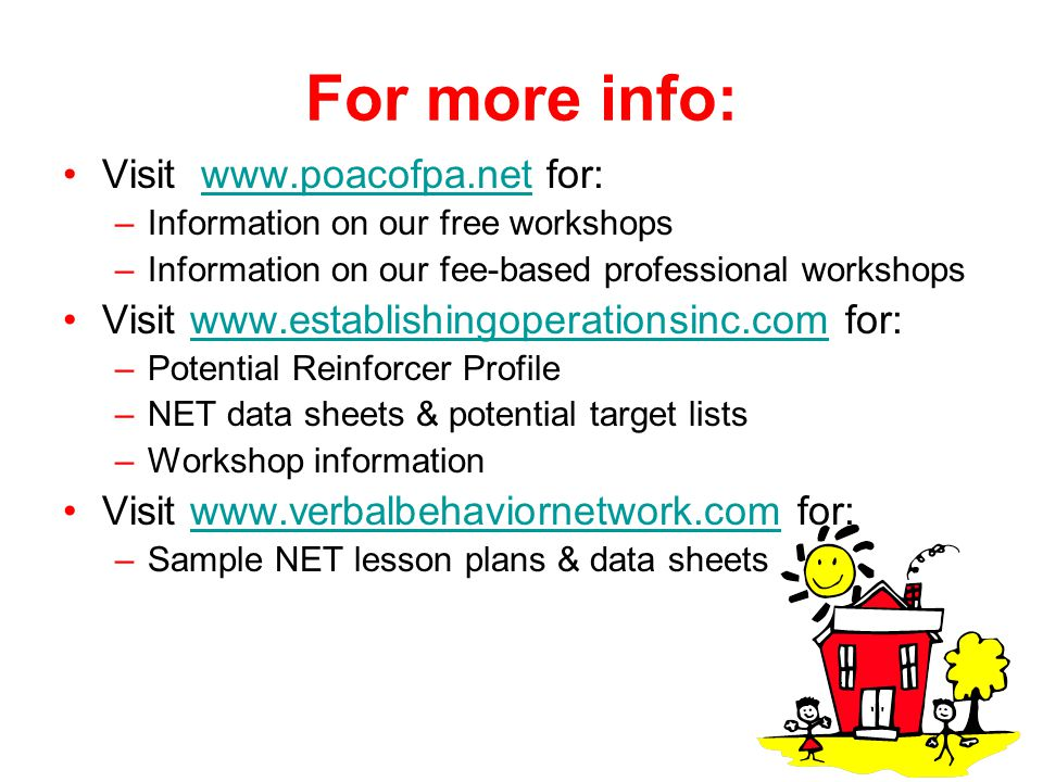 For more info: Visit www.poacofpa.net for: