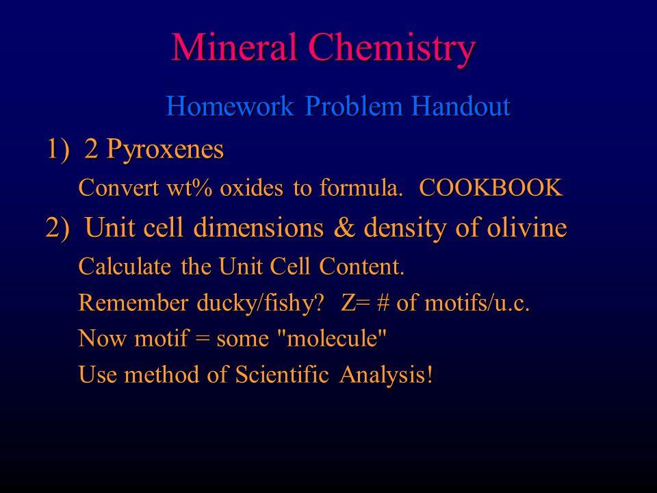 Homework Problem Handout
