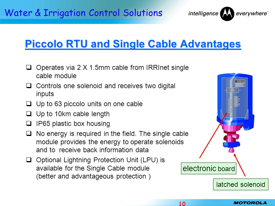 Piccolo RTU and Single Cable Advantages