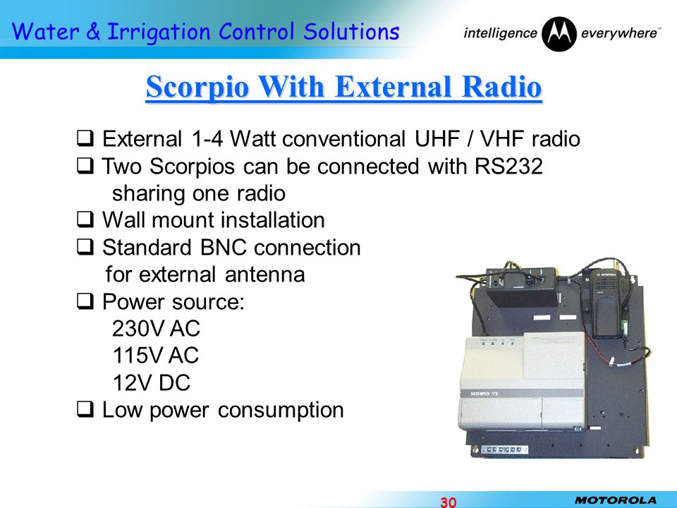 Scorpio With External Radio