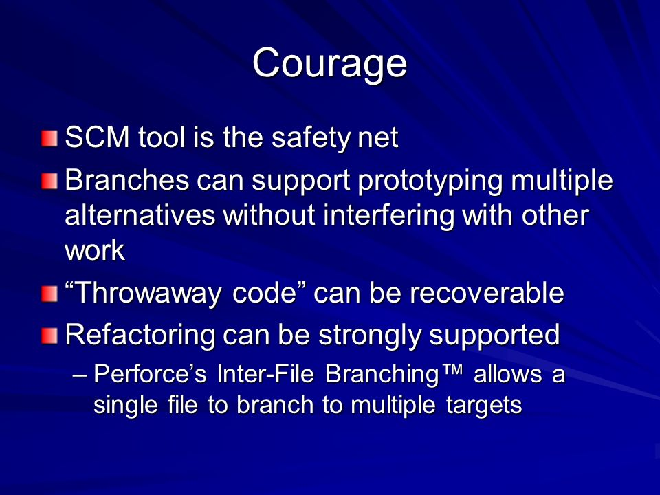Courage SCM tool is the safety net