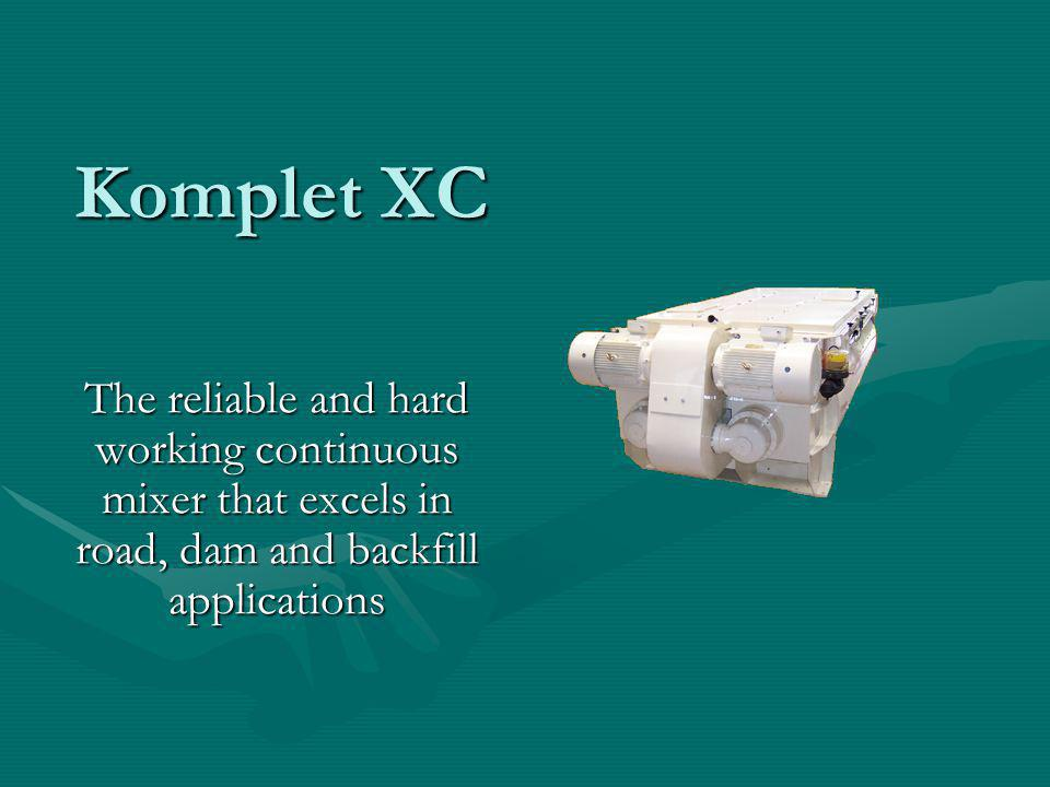Komplet XC The reliable and hard working continuous mixer that excels in road, dam and backfill applications.