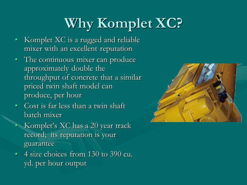 Why Komplet XC Komplet XC is a rugged and reliable mixer with an excellent reputation.