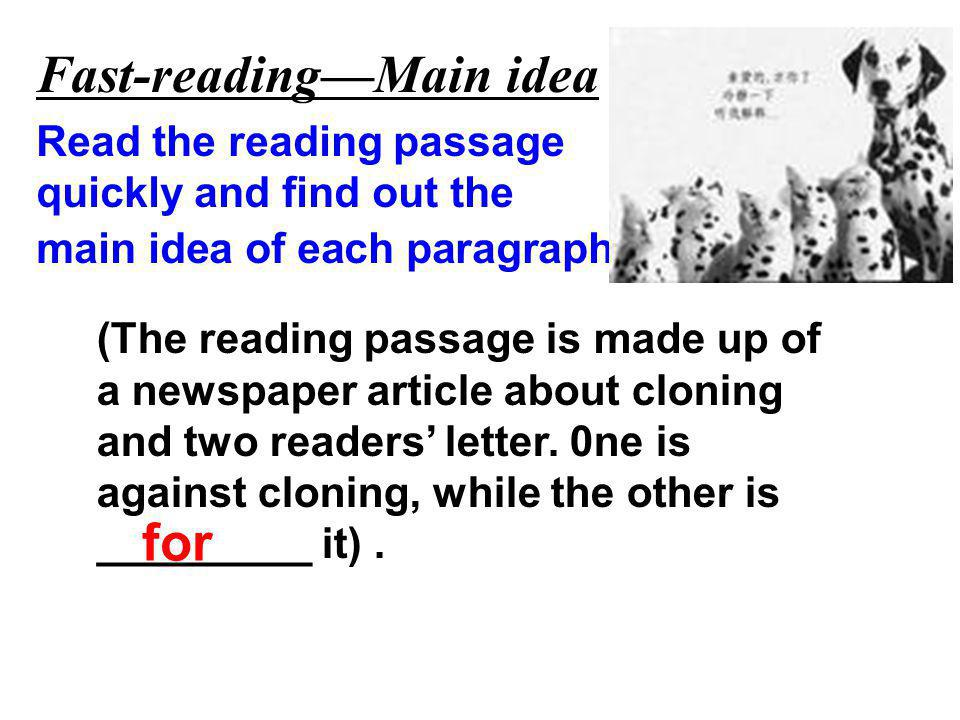 Fast-reading—Main idea