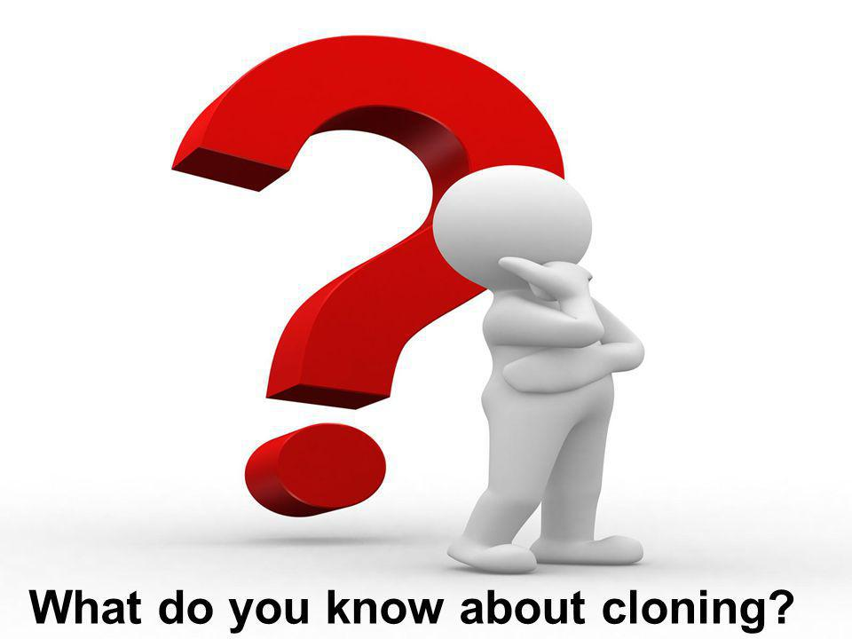 What do you know about cloning