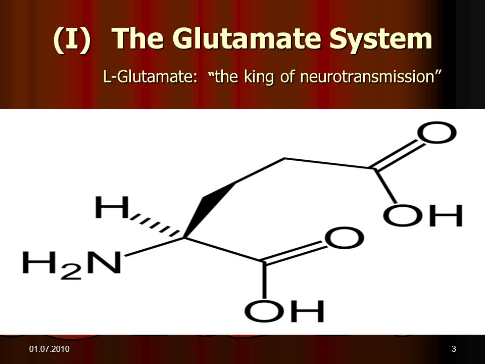 The Glutamate System L-Glutamate: the king of neurotransmission