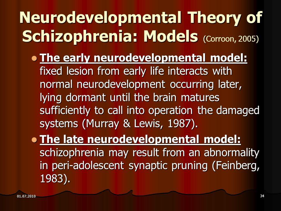 Neurodevelopmental Theory of Schizophrenia: Models (Corroon, 2005)