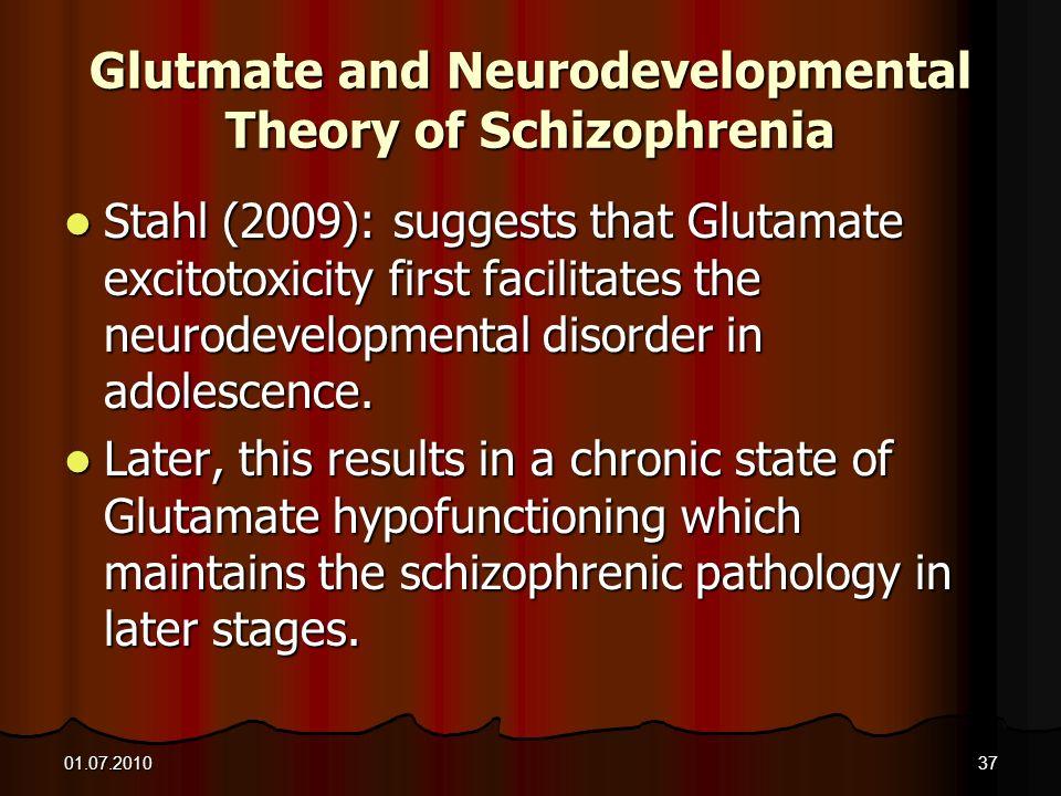 Glutmate and Neurodevelopmental Theory of Schizophrenia