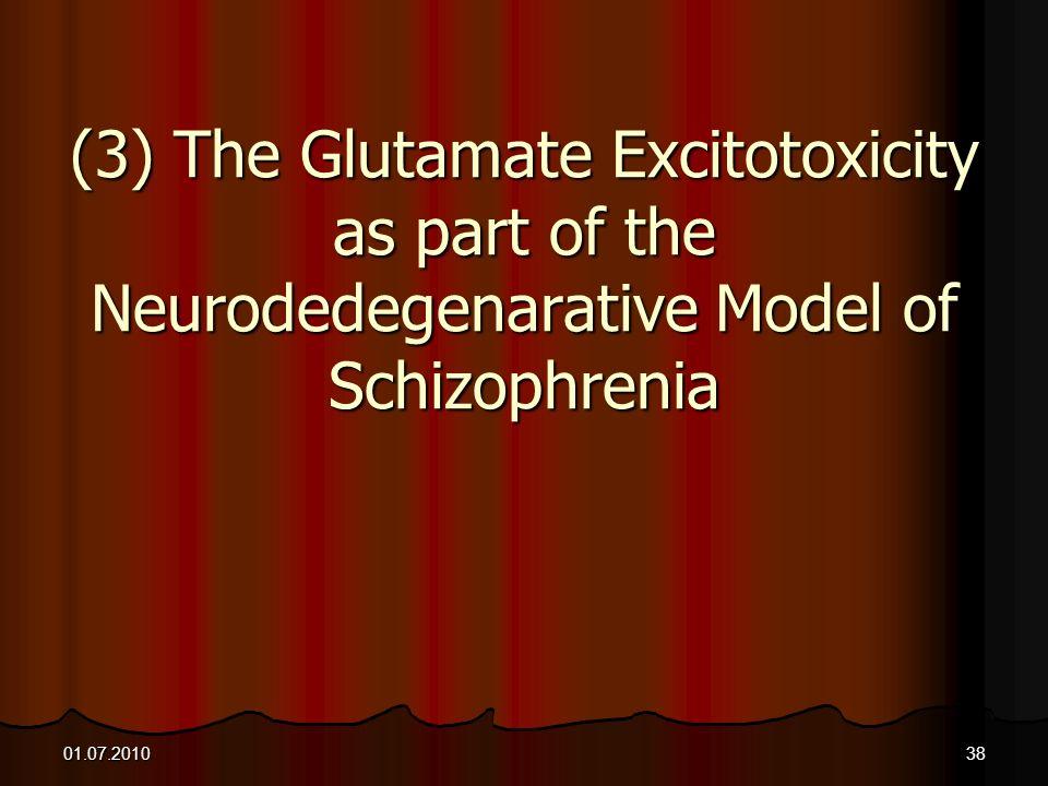 (3) The Glutamate Excitotoxicity as part of the Neurodedegenarative Model of Schizophrenia