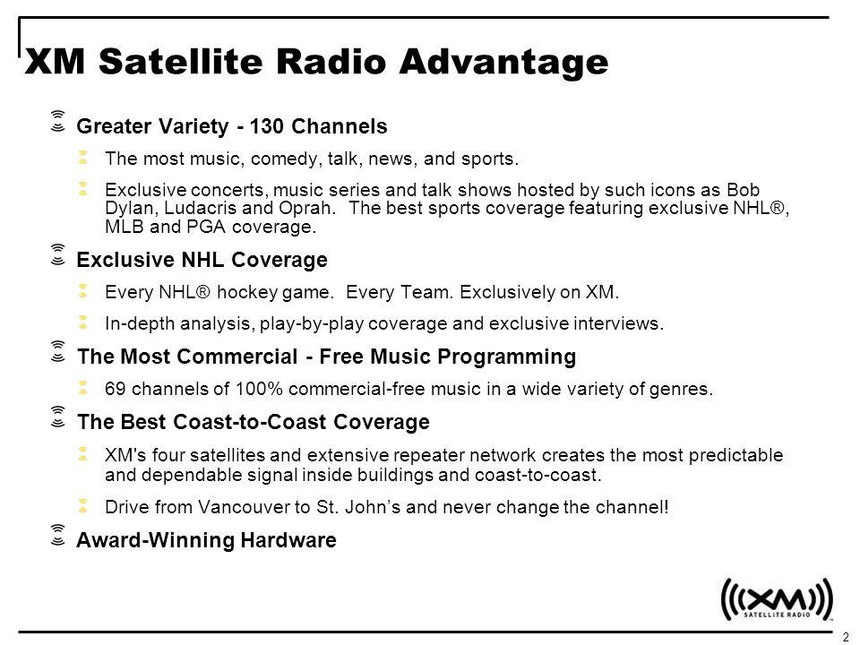 XM Satellite Radio Advantage