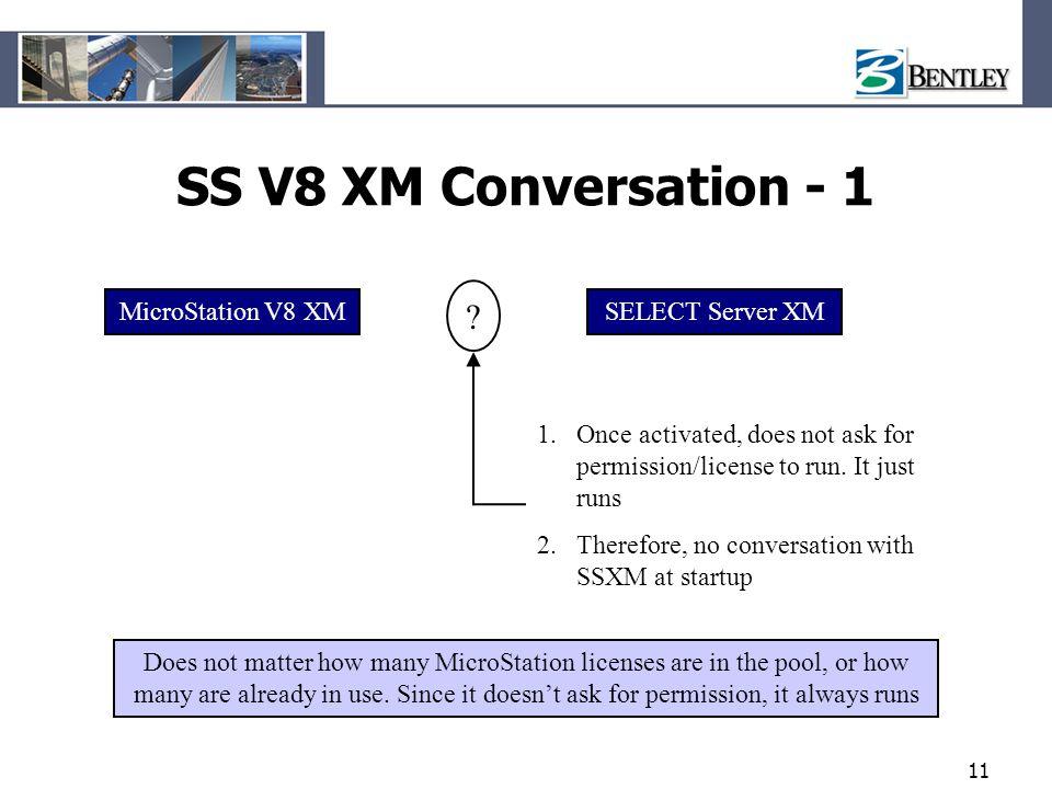 SS V8 XM Conversation - 1 MicroStation V8 XM SELECT Server XM