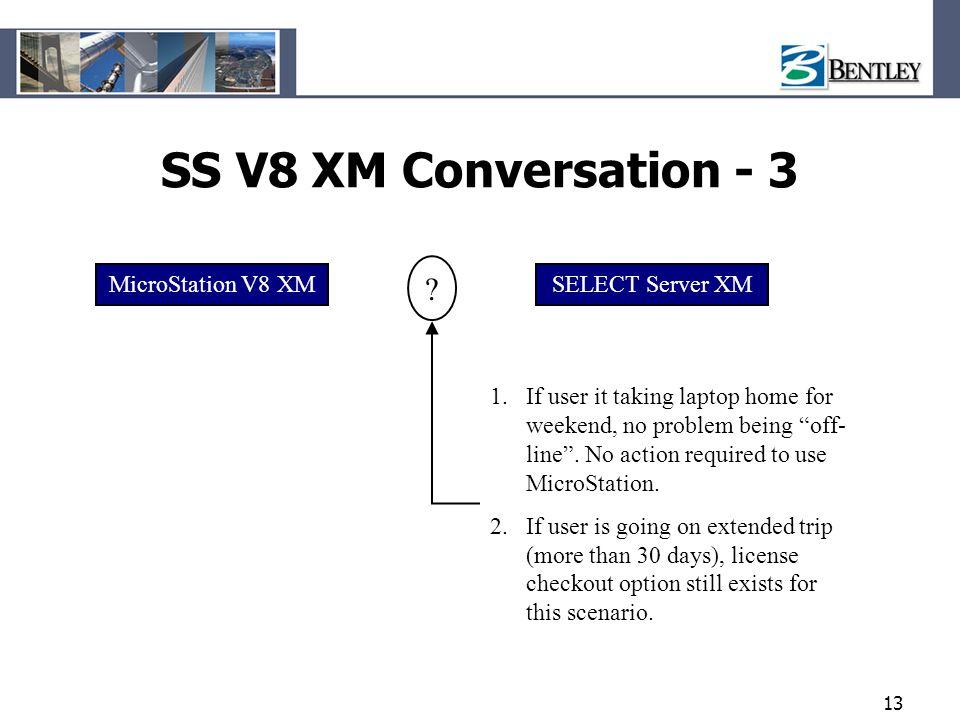 SS V8 XM Conversation - 3 MicroStation V8 XM SELECT Server XM