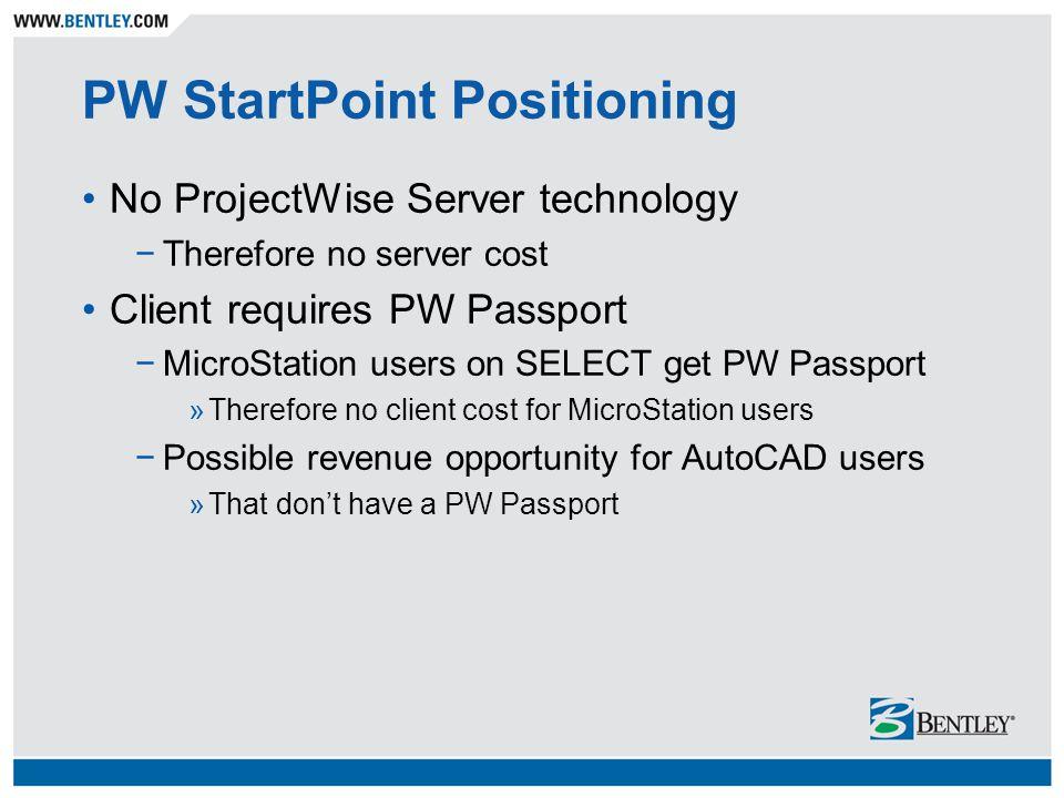 PW StartPoint Positioning