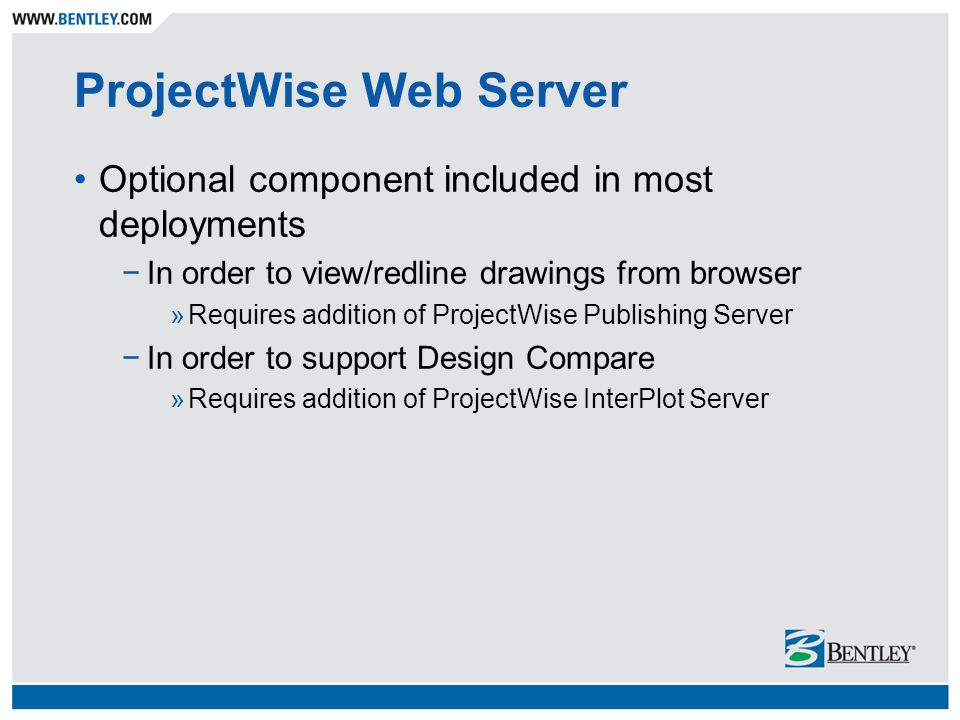ProjectWise Web Server