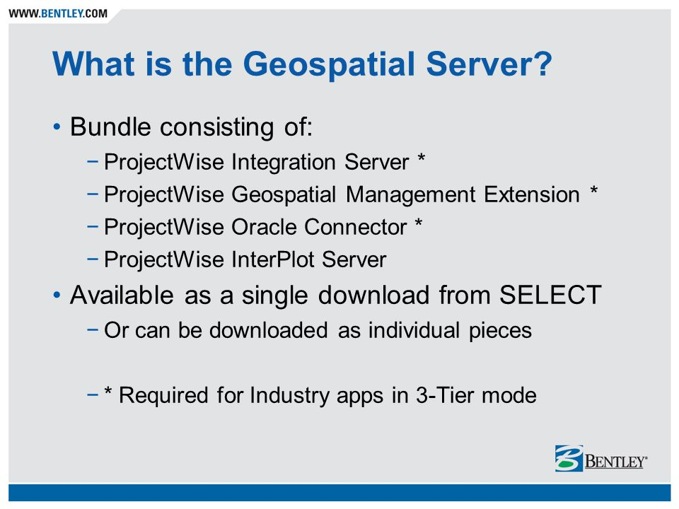 What is the Geospatial Server