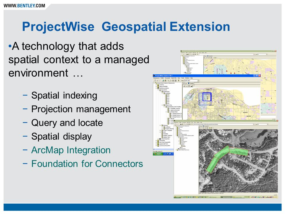 ProjectWise Geospatial Extension