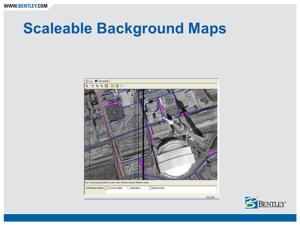Scaleable Background Maps